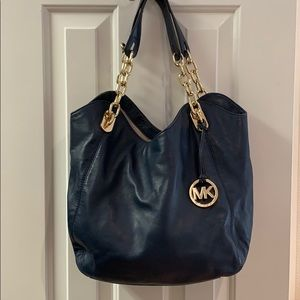 Michael Kors dark blue hobo bag!